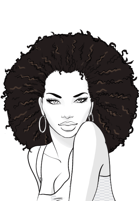 Afro clipart sketch. How to draw african