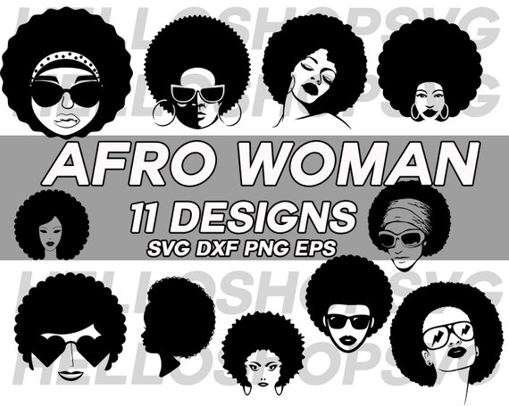 Afro clipart svg. Woman black funky girl