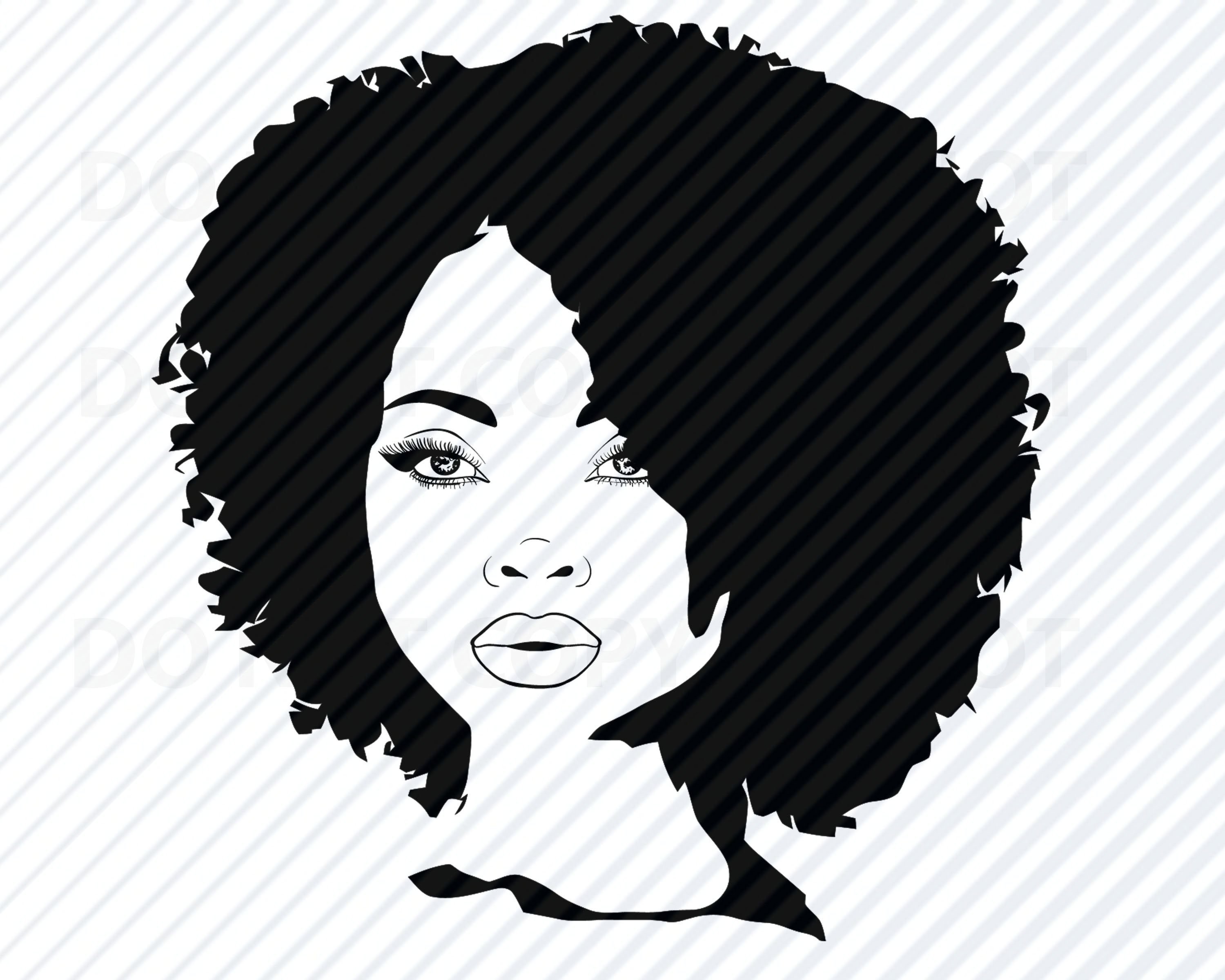 African american woman black. Afro clipart svg