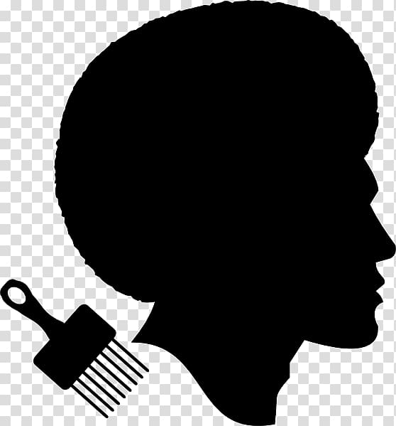 Afro clipart transparent. African american silhouette male