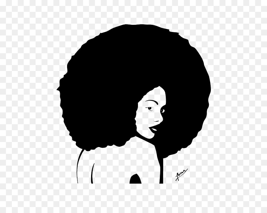 Afro clipart transparent. Circle silhouette drawing hair