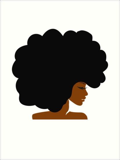 Woman cartoon black hair. Afro clipart transparent