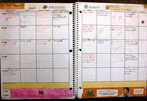 Agenda clipart assignment notebook. Homework planner book incep