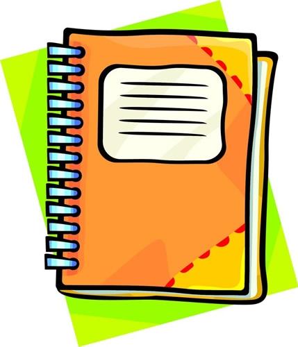 Notebook clipart assignment notebook. Clip art library
