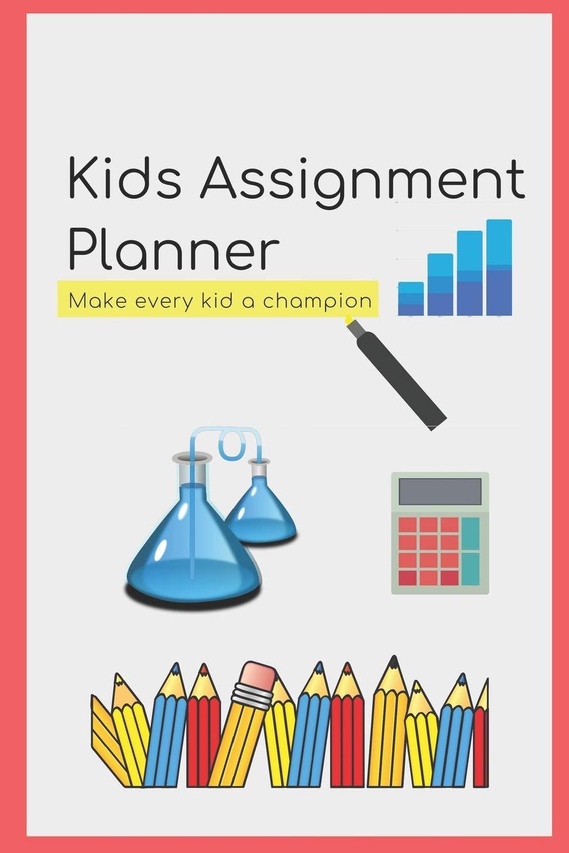 Kids school planner book. Agenda clipart assignment notebook