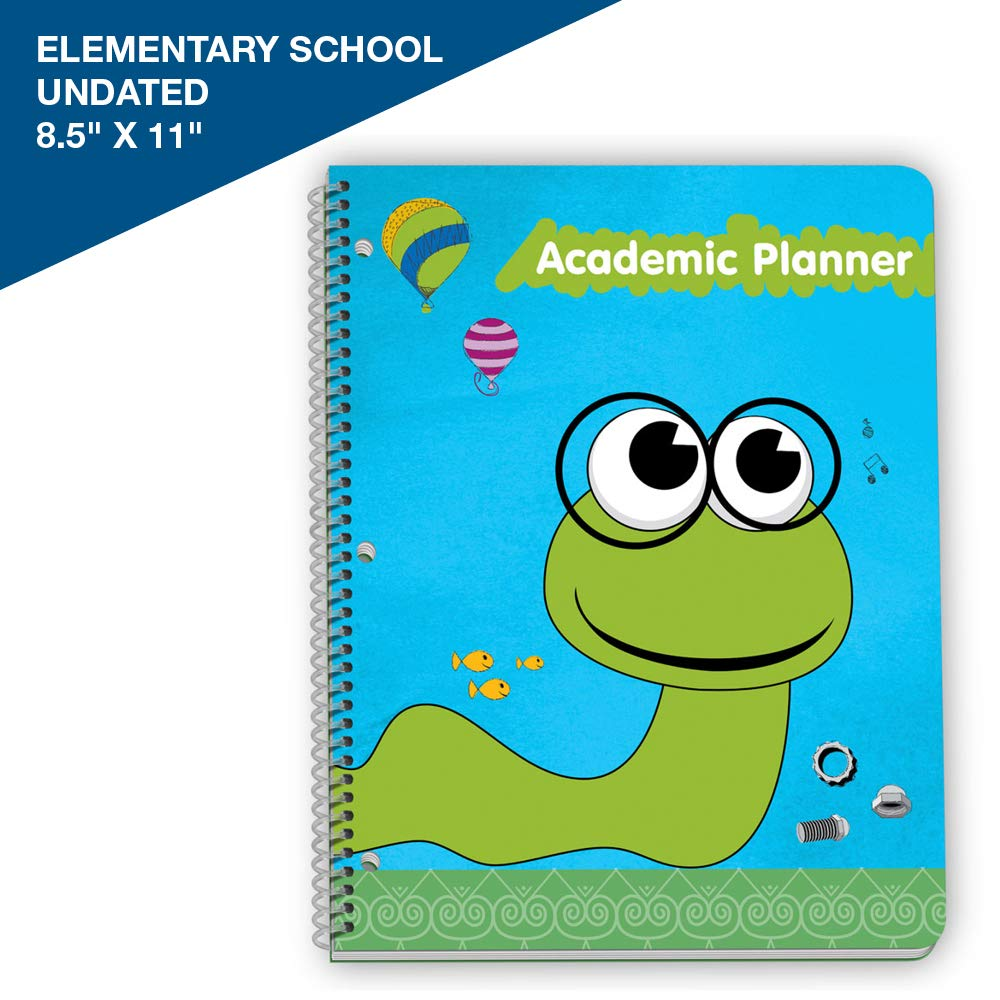 Agenda clipart assignment notebook. Undated student planner for
