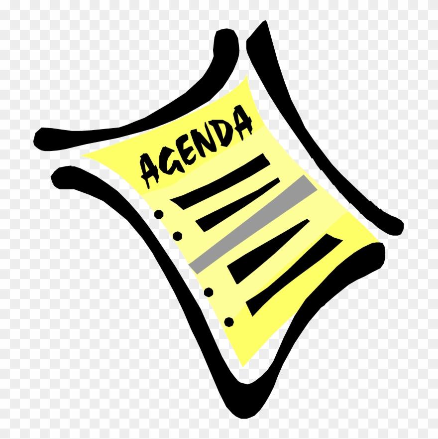 Agenda clipart board. Cda meeting and public