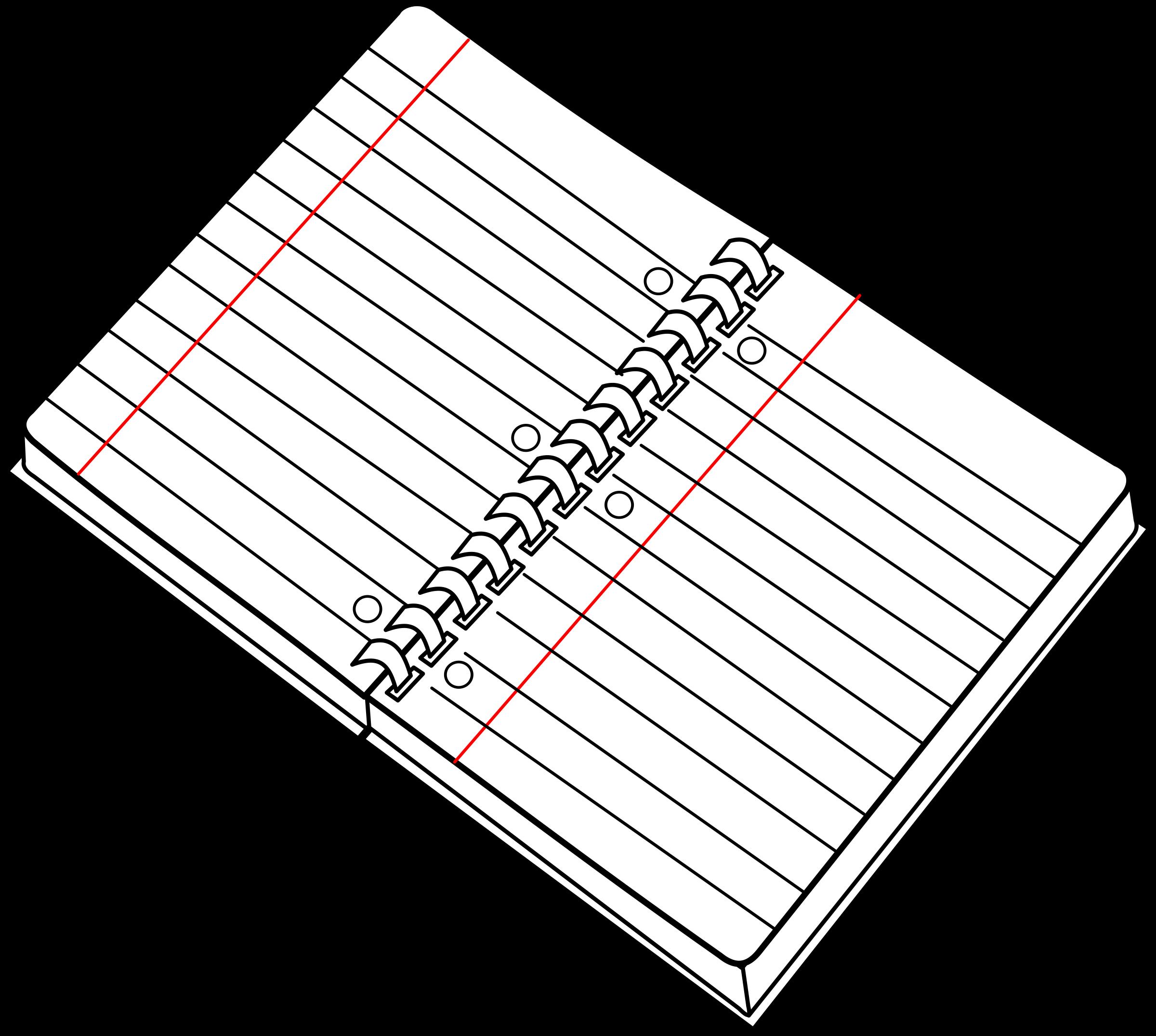 Cahier spirale ouvert open. Planner clipart transparent