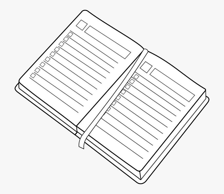 Free agenda . Planner clipart reading diary