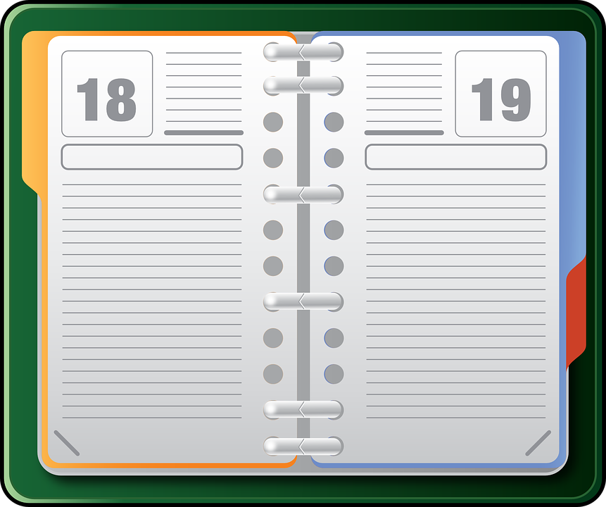 Agenda clipart diary. Technology background