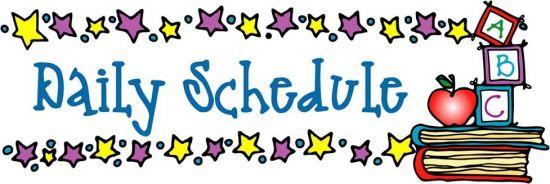Inspiring idea daily cilpart. Schedule clipart