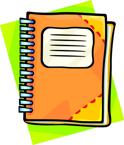Welcome parents and students. Notebook clipart class book