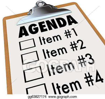 Announcements clipart project. Agenda on clipboard plan