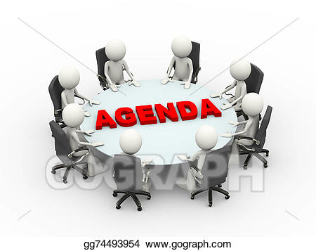 Teamwork clipart business meeting agenda. Stock illustration d people