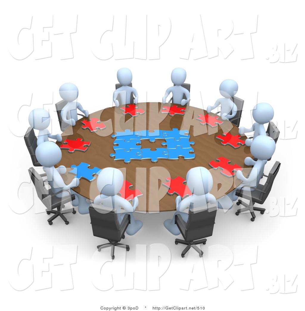 d clip art. Agenda clipart meeting table