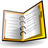 Free student cliparts download. Agenda clipart planner