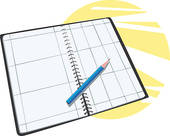Agenda clipart planner. Panda free images plannerclipart