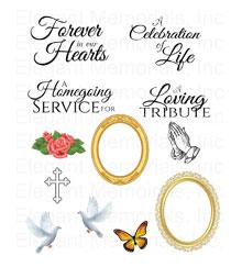Elegant memorials funeral programs. Announcement clipart programme