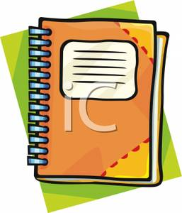 School . Planner clipart agenda book