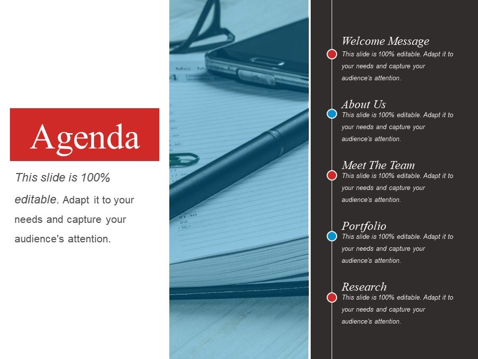 Powerpoint slide ppt images. Agenda clipart research