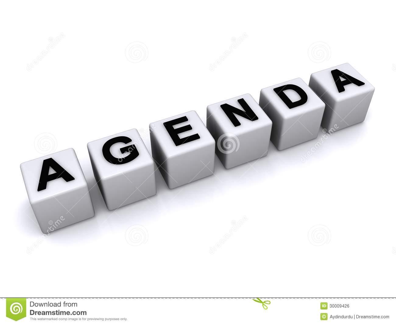 Agenda word