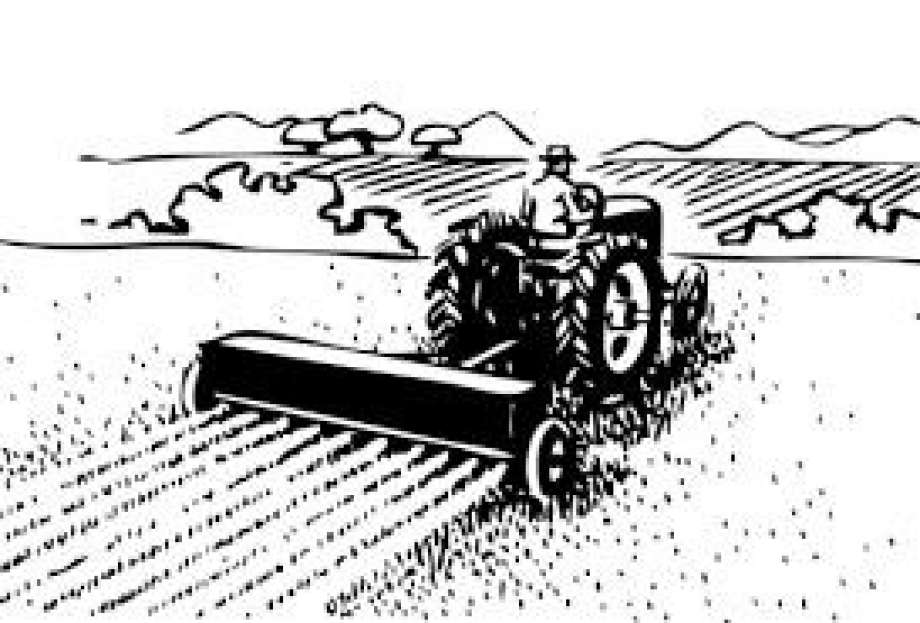 Black and white station. Agriculture clipart