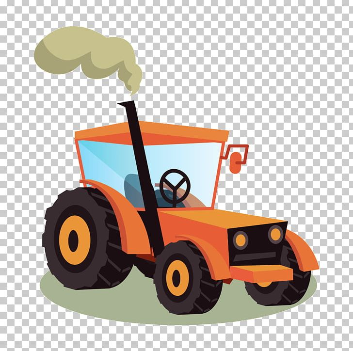 Tractor agricultural machinery icon. Agriculture clipart agri