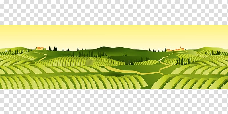 Agriculture clipart agricultural. Green field illustartion farm