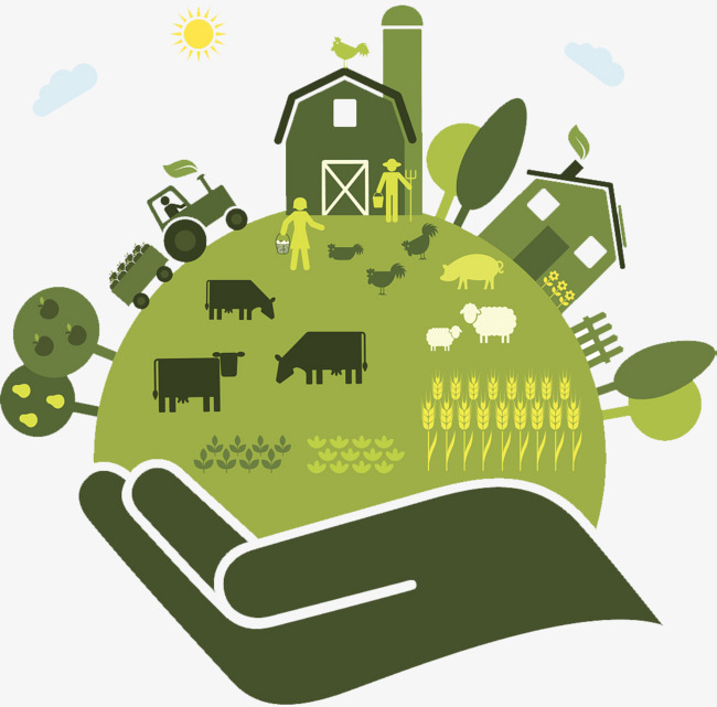 Flat winds icon farm. Agriculture clipart agricultural