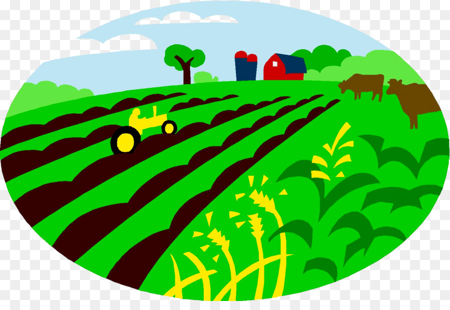 Green grass farm cattle. Agriculture clipart agriculture background