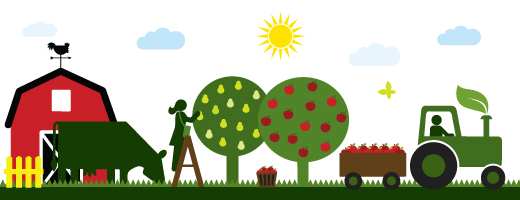Food forestry and fishing. Agriculture clipart agriculture business