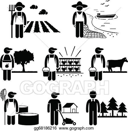 Agriculture clipart agriculture industry. Eps illustration plantation farming