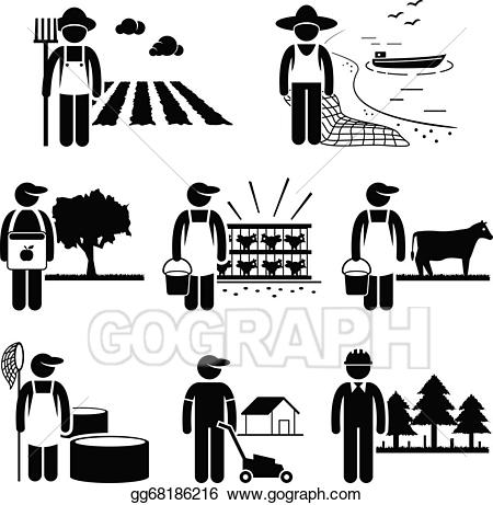 Eps illustration plantation farming. Agriculture clipart agriculture industry