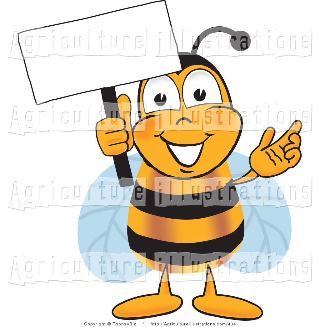 Agriculture clipart animated. Of a bumblebee mascot