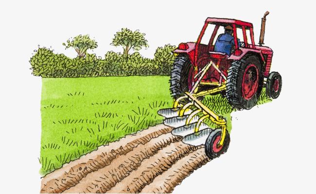 Agriculture clipart arable land. Illustration mechanical farming farmland