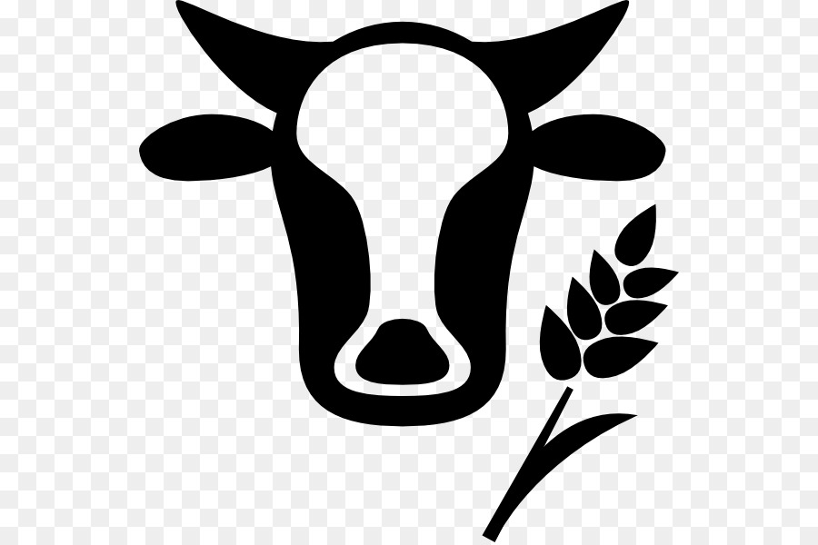Flower farmer nose . Agriculture clipart black and white