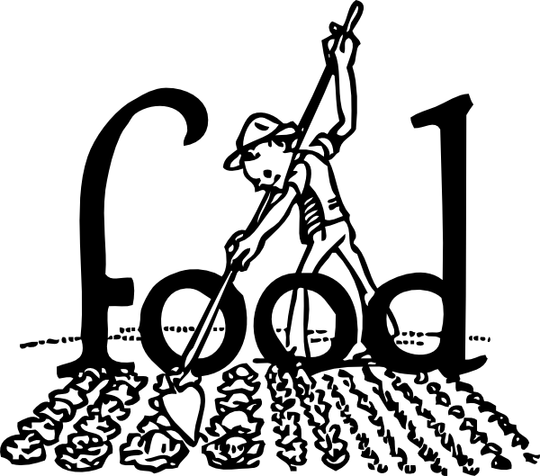 Farm black and white. Clipart food agriculture