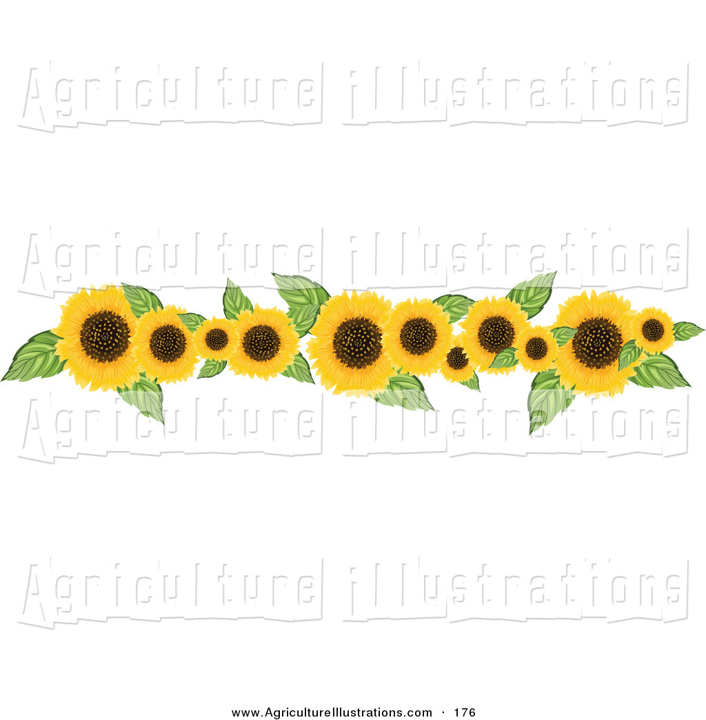 Agriculture clipart border. Of a or header