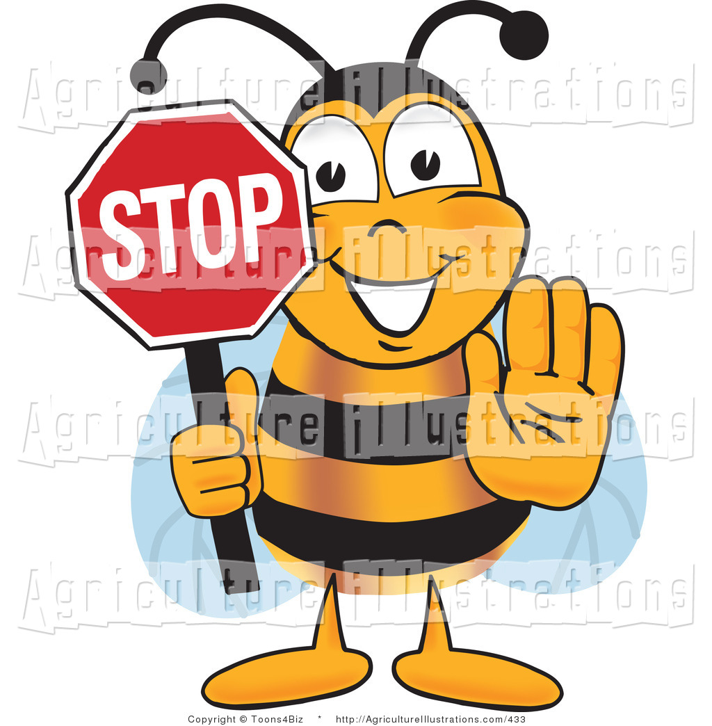 Of a honey bee. Agriculture clipart cartoon