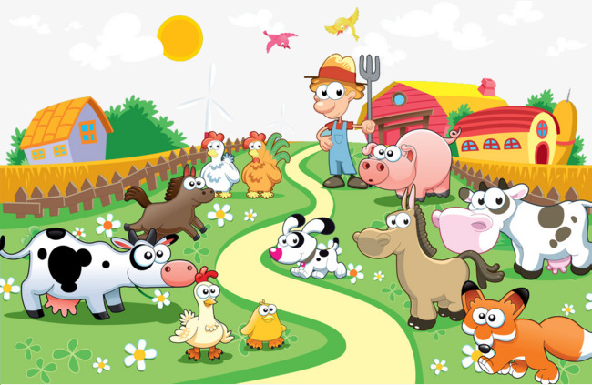 Agriculture clipart cartoon. Farm animals leisure busy