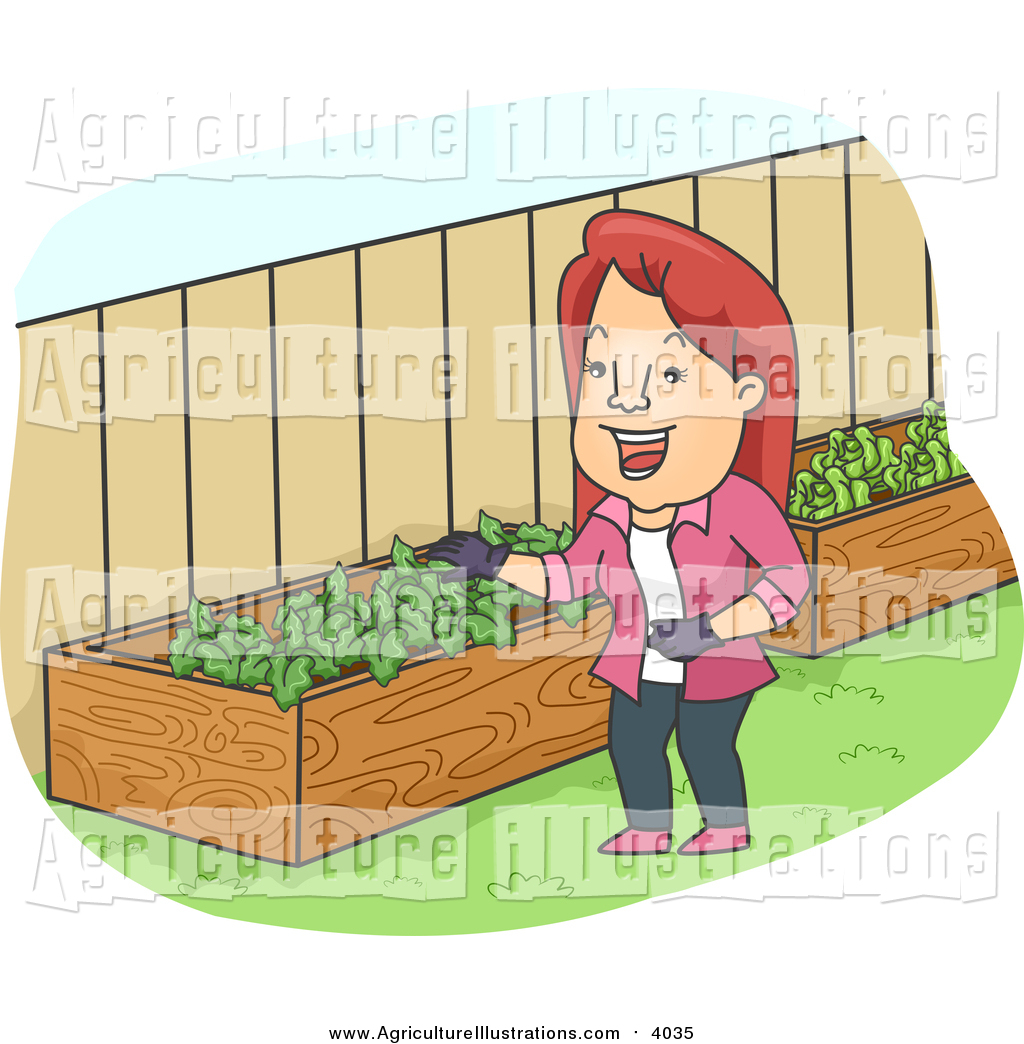 Of a happy red. Agriculture clipart cartoon