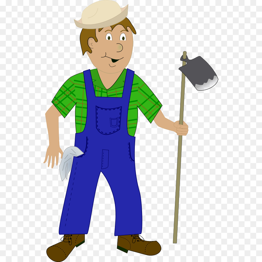 Farmer cartoon gingerbread man. Agriculture clipart clip art