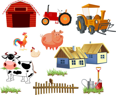 Cow farm free vector. Agriculture clipart commercial agriculture