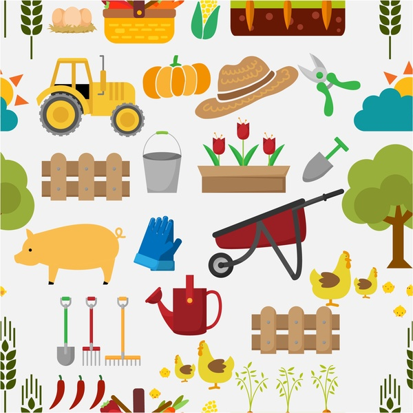 Farming tools free vector. Agriculture clipart commercial agriculture