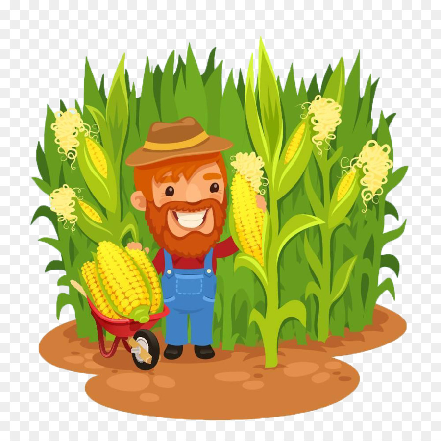 Agriculture clipart corn field. Maize farmer clip art