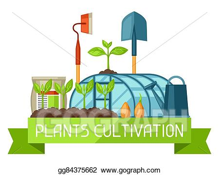 Vector art concept with. Agriculture clipart cultivation