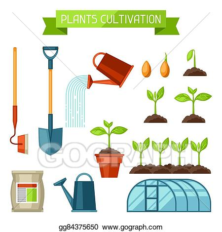 Eps vector set of. Agriculture clipart cultivation