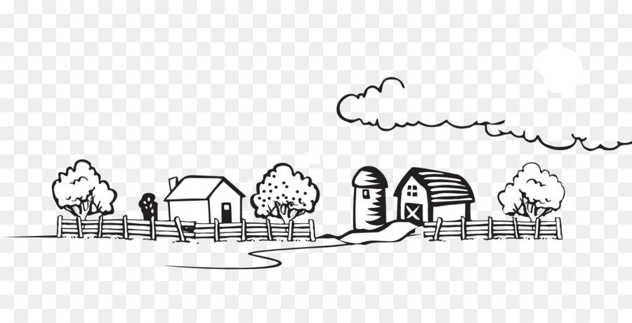 Farmer cartoon agriculture drawing. Clipart farm line art
