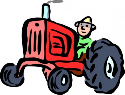 Free tractors . Agriculture clipart farm machinery