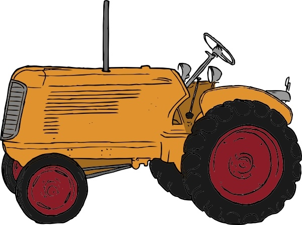 Agriculture clipart farm machinery. Tractor clip art free